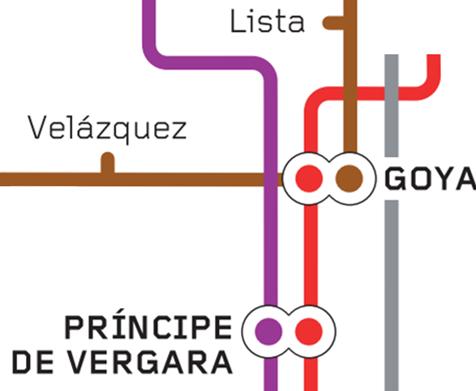Estaciones de Metro de Goya, Principe de Vergara y Lista